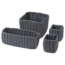 Набор корзин, 4 штуки НОРДРЭНА серый артикуль № 102.883.03 в наличии. Онлайн магазин IKEA Республика Беларусь. Недорогая доставка и монтаж.