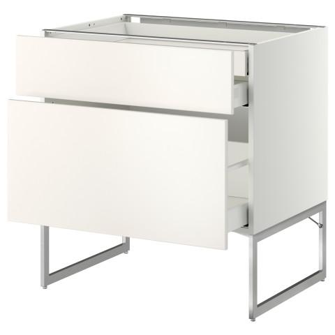Напольный шкаф 2 фронтальных панели, 2 нижних,1 встроенный ящик МЕТОД / МАКСИМЕРА белый артикуль № 591.067.97 в наличии. Онлайн магазин IKEA Беларусь. Быстрая доставка и соборка.