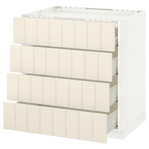Напольный шкаф, 4 фронтальных панели, 4 ящика МЕТОД / ФОРВАРА белый артикуль № 190.542.10 в наличии. Интернет сайт IKEA РБ. Недорогая доставка и монтаж.