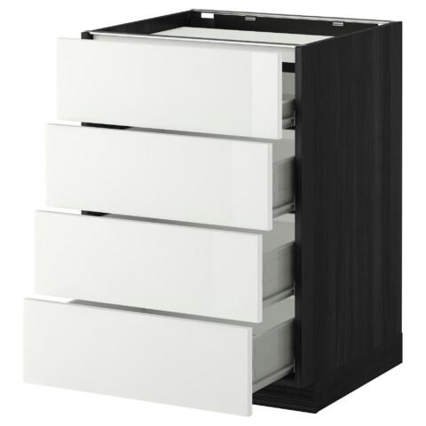 Напольный шкаф, 4 фронтальных панели, 4 ящика МЕТОД / ФОРВАРА белый артикуль № 299.240.20 в наличии. Онлайн каталог IKEA РБ. Недорогая доставка и соборка.