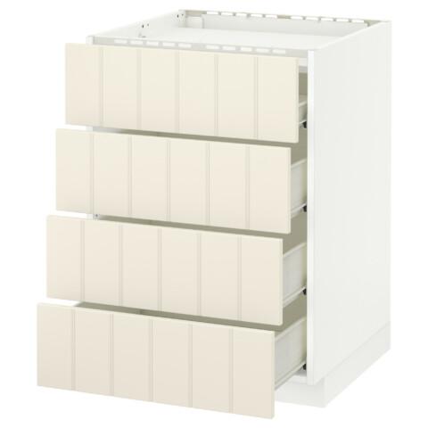 Напольный шкаф, 4 фронтальных панели, 4 ящика МЕТОД / ФОРВАРА белый артикуль № 390.542.09 в наличии. Онлайн магазин IKEA Беларусь. Недорогая доставка и соборка.