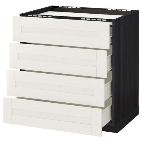 Напольный шкаф, 4 фронтальных панели, 4 ящика МЕТОД / ФОРВАРА белый артикуль № 590.642.26 в наличии. Интернет сайт IKEA РБ. Быстрая доставка и установка.