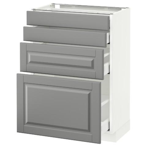Напольный шкаф 4 фронтальных панели, 4 ящика МЕТОД / МАКСИМЕРА серый артикуль № 191.140.49 в наличии. Онлайн сайт IKEA Беларусь. Быстрая доставка и установка.