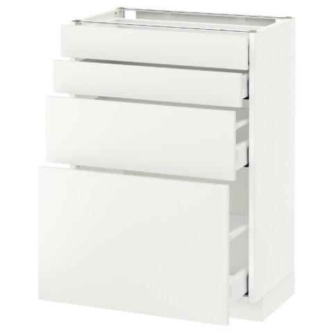 Напольный шкаф 4 фронтальных панели, 4 ящика МЕТОД / МАКСИМЕРА белый артикуль № 291.140.58 в наличии. Интернет сайт IKEA РБ. Недорогая доставка и соборка.