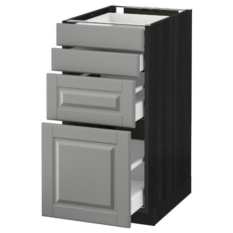 Напольный шкаф 4 фронтальных панели, 4 ящика МЕТОД / МАКСИМЕРА черный артикуль № 391.105.78 в наличии. Интернет магазин IKEA РБ. Недорогая доставка и монтаж.