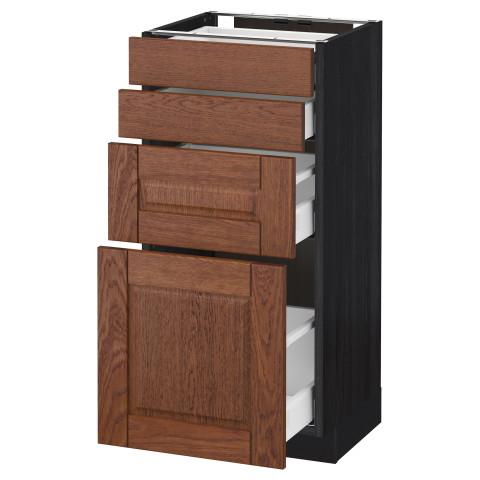 Напольный шкаф 4 фронтальных панели, 4 ящика МЕТОД / МАКСИМЕРА черный артикуль № 491.139.77 в наличии. Онлайн сайт IKEA РБ. Недорогая доставка и соборка.