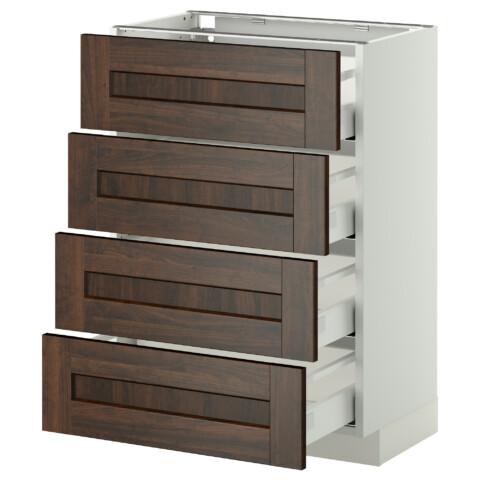Напольный шкаф 4 фронтальных панели, 4 ящика МЕТОД / МАКСИМЕРА белый артикуль № 891.098.84 в наличии. Интернет каталог IKEA РБ. Быстрая доставка и установка.
