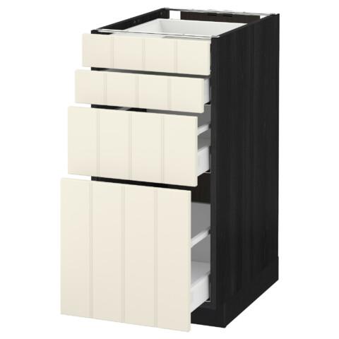 Напольный шкаф 4 фронтальных панели, 4 ящика МЕТОД / МАКСИМЕРА черный артикуль № 891.105.85 в наличии. Онлайн сайт ИКЕА РБ. Быстрая доставка и установка.