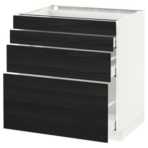 Напольный шкаф 4 фронтальных панели, 4 ящика МЕТОД / МАКСИМЕРА черный артикуль № 891.107.12 в наличии. Интернет сайт IKEA Минск. Недорогая доставка и монтаж.
