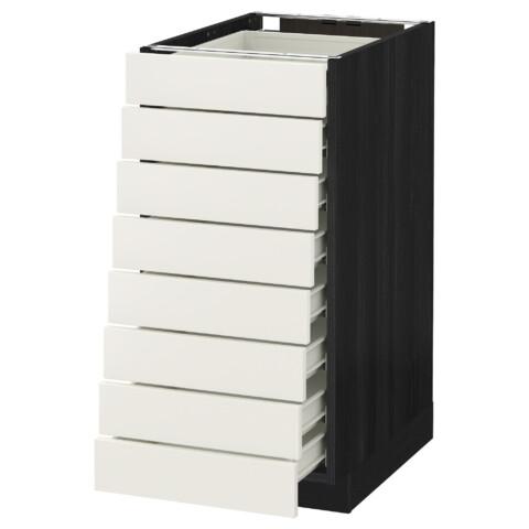 Напольный шкаф 8 фронтальных, 8 низких ящиков МЕТОД / ФОРВАРА белый артикуль № 390.642.08 в наличии. Онлайн магазин IKEA Минск. Быстрая доставка и соборка.