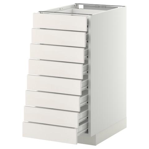 Напольный шкаф 8 фронтальных, 8 низких ящиков МЕТОД / ФОРВАРА белый артикуль № 399.157.65 в наличии. Онлайн магазин IKEA Минск. Недорогая доставка и соборка.