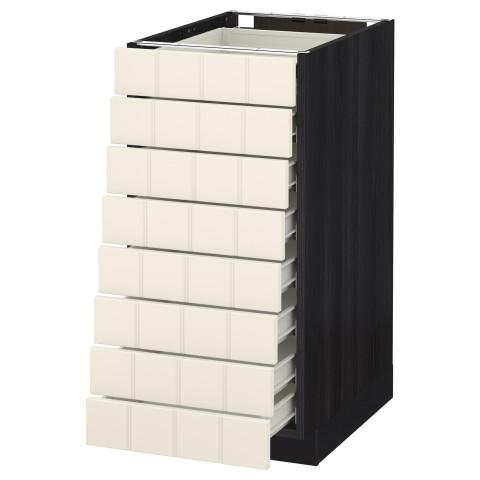 Напольный шкаф 8 фронтальных, 8 низких ящиков МЕТОД / ФОРВАРА черный артикуль № 590.556.13 в наличии. Онлайн сайт IKEA Республика Беларусь. Быстрая доставка и установка.