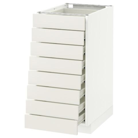 Напольный шкаф 8 фронтальных, 8 низких ящиков МЕТОД / ФОРВАРА белый артикуль № 690.635.37 в наличии. Интернет сайт IKEA Минск. Недорогая доставка и соборка.
