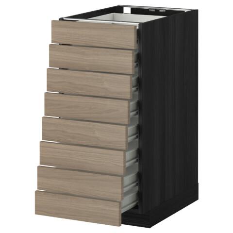 Напольный шкаф 8 фронтальных, 8 низких ящиков МЕТОД / ФОРВАРА черный артикуль № 999.129.19 в наличии. Интернет сайт IKEA Беларусь. Быстрая доставка и установка.