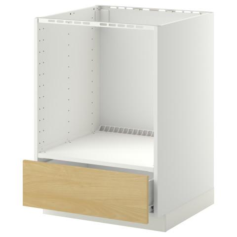 Напольный шкаф для духовки, с ящиком МЕТОД / ФОРВАРА белый артикуль № 690.269.36 в наличии. Интернет магазин IKEA РБ. Быстрая доставка и соборка.