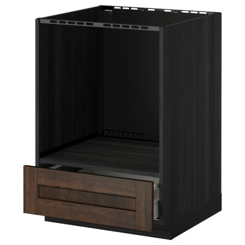 Напольный шкаф для духовки, с ящиком МЕТОД / МАКСИМЕРА черный артикуль № 491.099.56 в наличии. Онлайн магазин IKEA Минск. Быстрая доставка и соборка.