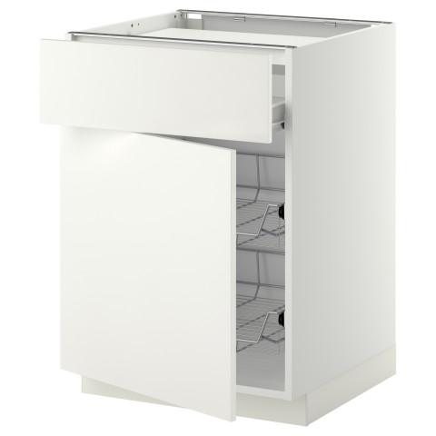 Напольный шкаф для варочной панели, ящик, 2 проволочных корзины МЕТОД / ФОРВАРА белый артикуль № 099.236.77 в наличии. Онлайн магазин IKEA Минск. Недорогая доставка и установка.