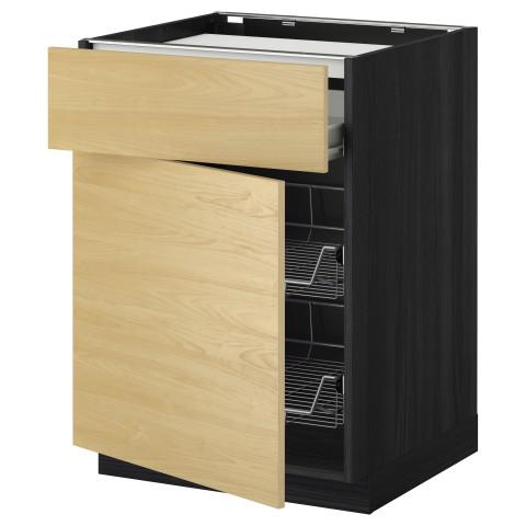 Напольный шкаф для варочной панели, ящик, 2 проволочных корзины МЕТОД / ФОРВАРА черный артикуль № 299.238.98 в наличии. Онлайн магазин IKEA Беларусь. Недорогая доставка и соборка.