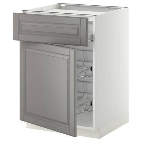 Напольный шкаф для варочной панели, ящик, 2 проволочных корзины МЕТОД / ФОРВАРА белый артикуль № 399.242.32 в наличии. Онлайн магазин IKEA Беларусь. Быстрая доставка и установка.