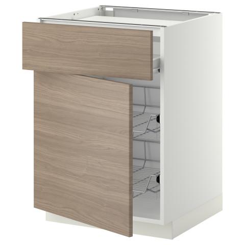 Напольный шкаф для варочной панели, ящик, 2 проволочных корзины МЕТОД / ФОРВАРА белый артикуль № 799.241.50 в наличии. Интернет сайт IKEA Минск. Быстрая доставка и монтаж.