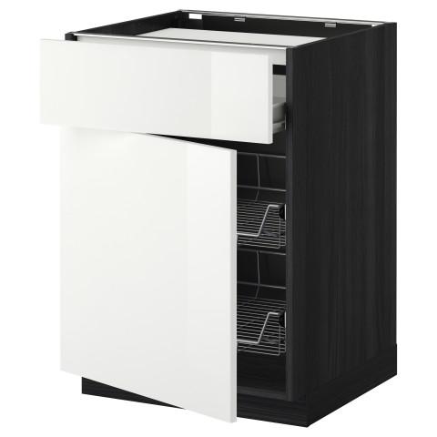 Напольный шкаф для варочной панели, ящик, 2 проволочных корзины МЕТОД / ФОРВАРА белый артикуль № 999.240.26 в наличии. Интернет магазин IKEA Минск. Быстрая доставка и установка.