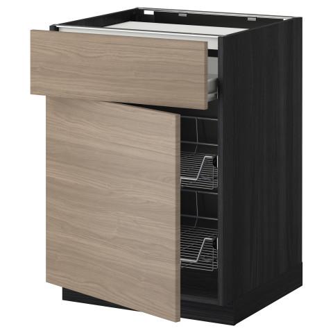 Напольный шкаф для варочной панели, ящик, 2 проволочных корзины МЕТОД / ФОРВАРА черный артикуль № 999.241.49 в наличии. Онлайн каталог IKEA Беларусь. Недорогая доставка и установка.