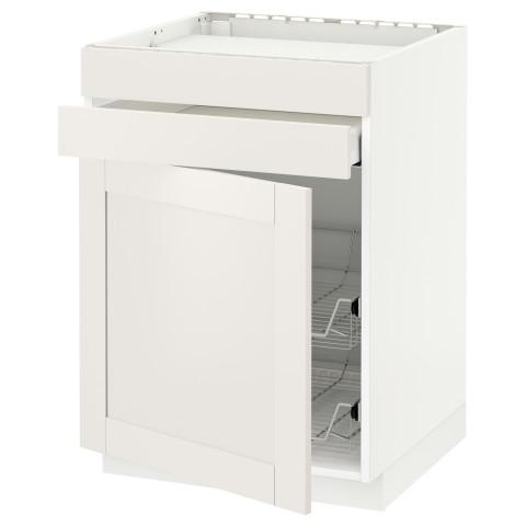 Напольный шкаф для варочной панели, ящик, 2 проволочных корзины МЕТОД / МАКСИМЕРА белый артикуль № 191.123.14 в наличии. Онлайн сайт IKEA РБ. Быстрая доставка и соборка.