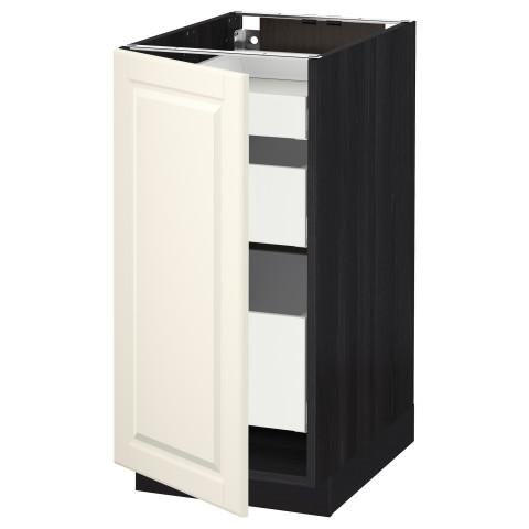 Напольный шкаф с 1 дверцей, 3 ящика МЕТОД / МАКСИМЕРА черный артикуль № 491.103.18 в наличии. Онлайн магазин IKEA Беларусь. Быстрая доставка и установка.