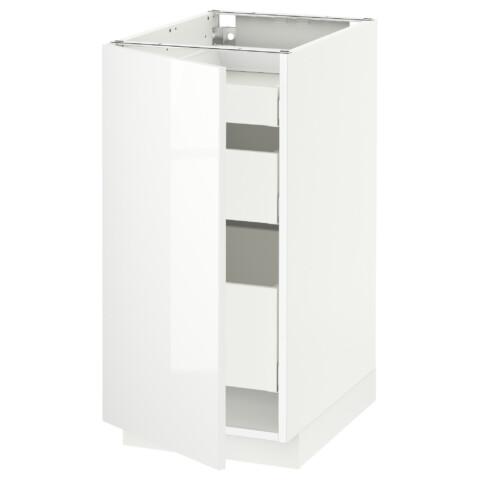 Напольный шкаф с 1 дверцей, 3 ящика МЕТОД / МАКСИМЕРА белый артикуль № 591.103.65 в наличии. Онлайн сайт IKEA Минск. Недорогая доставка и монтаж.