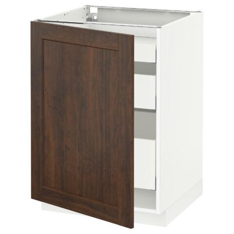 Напольный шкаф с 1 дверцей, 3 ящика МЕТОД / МАКСИМЕРА белый артикуль № 691.104.02 в наличии. Интернет магазин IKEA РБ. Быстрая доставка и монтаж.