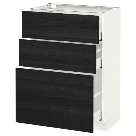 Напольный шкаф с 3 ящиками МЕТОД / МАКСИМЕРА черный артикуль № 091.136.44 в наличии. Интернет каталог IKEA РБ. Быстрая доставка и монтаж.