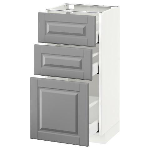Напольный шкаф с 3 ящиками МЕТОД / МАКСИМЕРА серый артикуль № 191.135.87 в наличии. Онлайн сайт IKEA РБ. Недорогая доставка и монтаж.