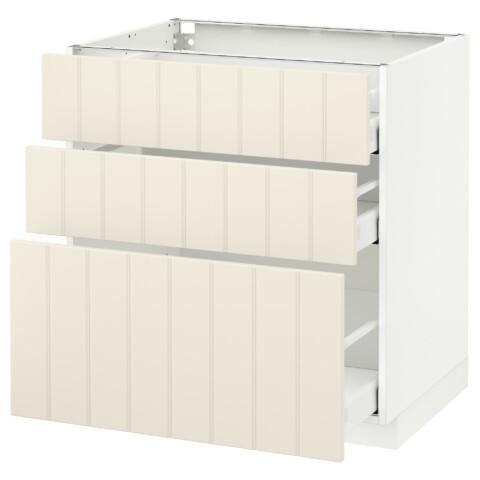 Напольный шкаф с 3 ящиками МЕТОД / МАКСИМЕРА белый артикуль № 591.105.63 в наличии. Online магазин IKEA Беларусь. Быстрая доставка и установка.