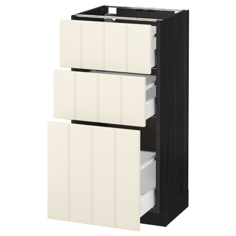 Напольный шкаф с 3 ящиками МЕТОД / МАКСИМЕРА черный артикуль № 591.135.71 в наличии. Online каталог IKEA РБ. Недорогая доставка и соборка.