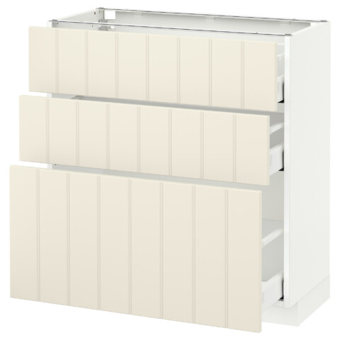 Напольный шкаф с 3 ящиками МЕТОД / МАКСИМЕРА белый артикуль № 691.136.98 в наличии. Онлайн сайт IKEA РБ. Быстрая доставка и соборка.