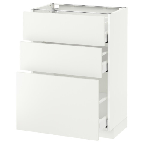 Напольный шкаф с 3 ящиками МЕТОД / МАКСИМЕРА белый артикуль № 891.136.35 в наличии. Онлайн каталог ИКЕА РБ. Недорогая доставка и соборка.