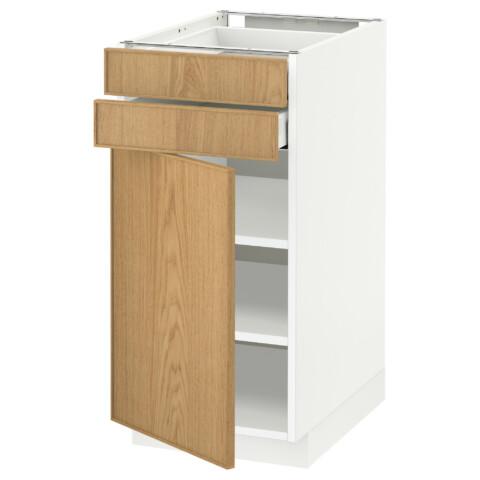 Напольный шкаф с дверцей, 2 ящиками МЕТОД / МАКСИМЕРА белый артикуль № 191.027.58 в наличии. Интернет сайт IKEA Беларусь. Быстрая доставка и монтаж.