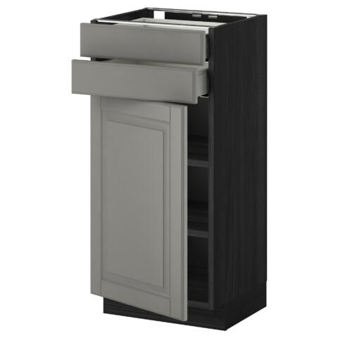 Напольный шкаф с дверцей, 2 ящиками МЕТОД / МАКСИМЕРА черный артикуль № 791.097.14 в наличии. Интернет каталог IKEA РБ. Быстрая доставка и соборка.