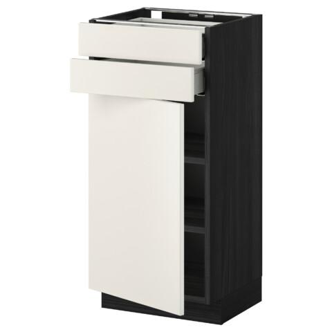 Напольный шкаф с дверцей, 2 ящиками МЕТОД / МАКСИМЕРА белый артикуль № 991.097.13 в наличии. Онлайн сайт IKEA РБ. Недорогая доставка и соборка.