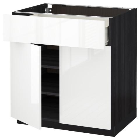 Напольный шкаф + ящик, 2 дверцы МЕТОД / ФОРВАРА белый артикуль № 690.490.04 в наличии. Online магазин IKEA Минск. Недорогая доставка и установка.