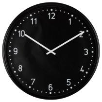 Настенные часы БУНДИС черный артикуль № 701.524.67 в наличии. Online магазин ИКЕА Беларусь. Недорогая доставка и соборка.