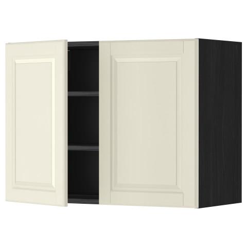 Навесной шкаф с полками, 2 дверцы МЕТОД черный артикуль № 099.178.03 в наличии. Интернет каталог IKEA РБ. Недорогая доставка и установка.