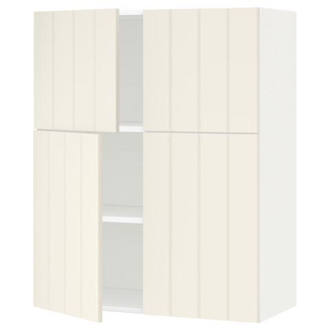 Навесной шкаф с полками, 4 дверцы МЕТОД белый артикуль № 290.540.97 в наличии. Онлайн каталог ИКЕА РБ. Быстрая доставка и установка.