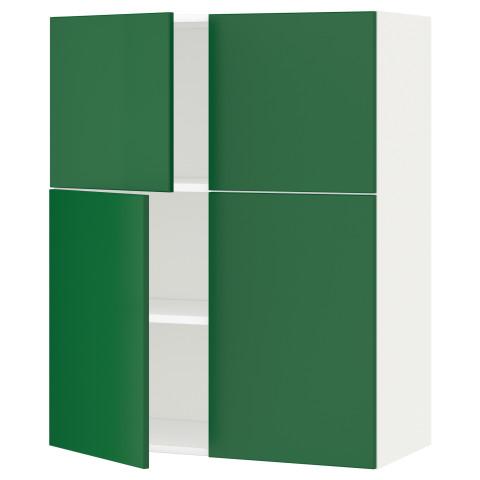 Навесной шкаф с полками, 4 дверцы МЕТОД зеленый артикуль № 990.539.14 в наличии. Онлайн каталог IKEA Минск. Недорогая доставка и монтаж.