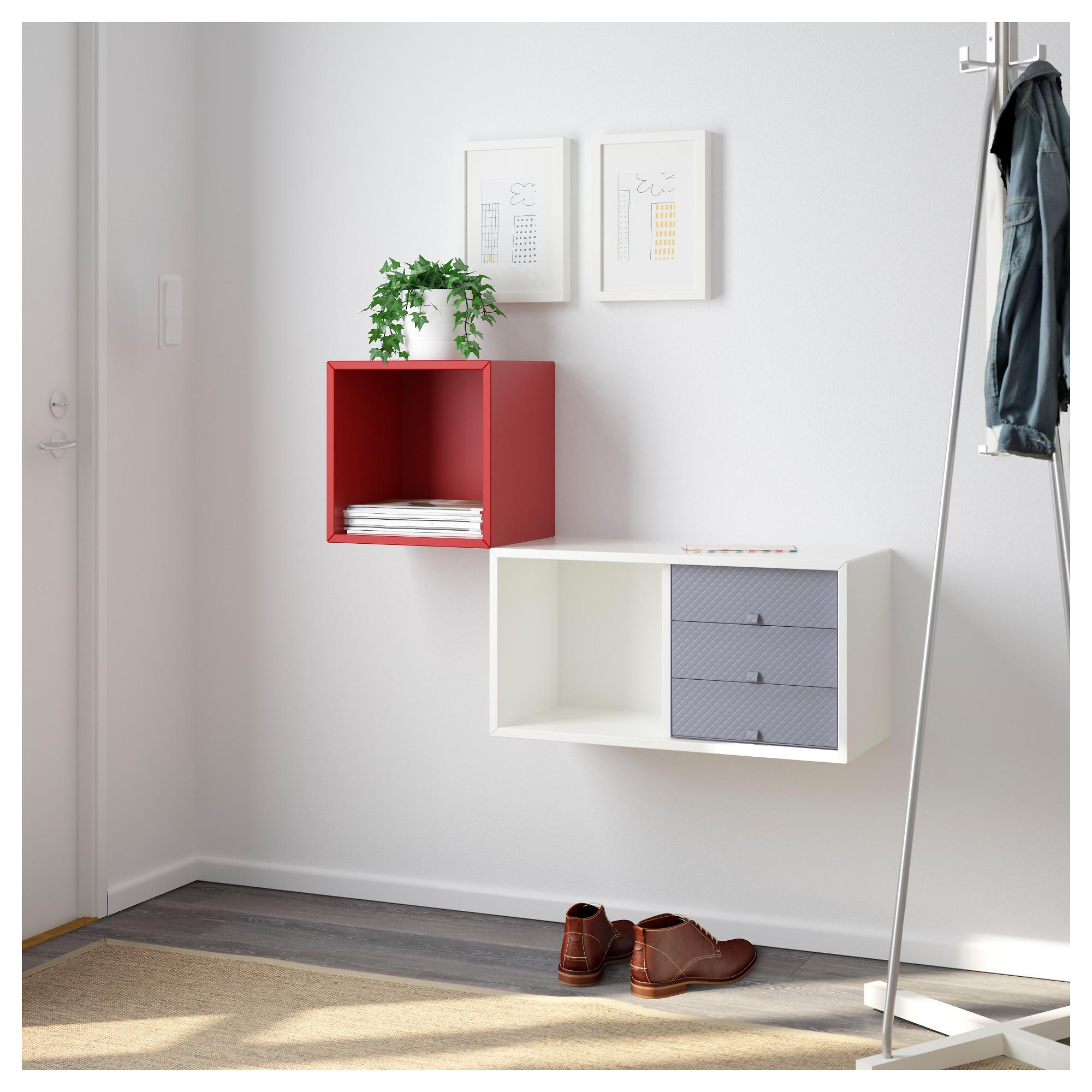 Купить навесной шкафчик вэлье, белый, красный в ikea (минск).