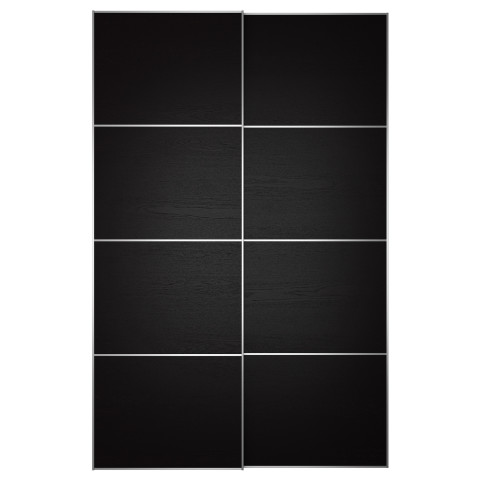 Пара раздвижных дверей ИЛЬСЕНГ черно-коричневый артикуль № 299.324.35 в наличии. Интернет магазин IKEA Республика Беларусь. Недорогая доставка и установка.