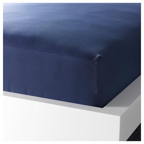 Простыня натяжная ДВАЛА темно-синий артикуль № 701.499.98 в наличии. Онлайн сайт IKEA РБ. Быстрая доставка и установка.