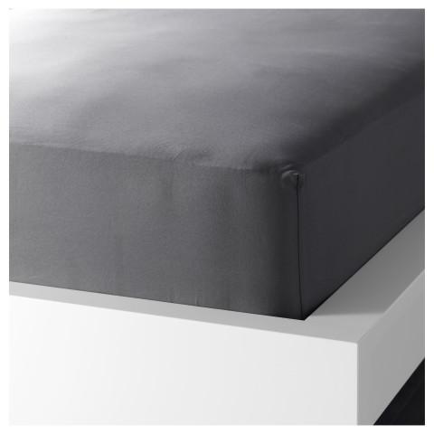 Простыня натяжная ГЭСПА темно-серый артикуль № 601.513.93 в наличии. Онлайн каталог IKEA РБ. Недорогая доставка и соборка.