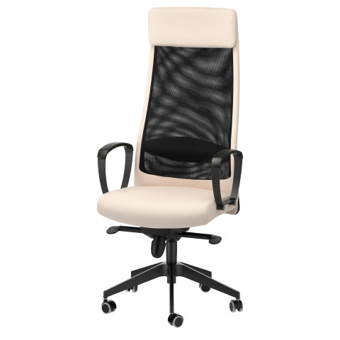 Рабочий стул МАРКУС бежевый артикуль № 203.097.29 в наличии. Онлайн сайт IKEA Минск. Недорогая доставка и соборка.