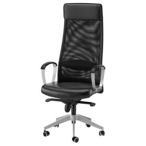 Рабочий стул МАРКУС черный артикуль № 401.031.00 в наличии. Online магазин IKEA РБ. Быстрая доставка и установка.